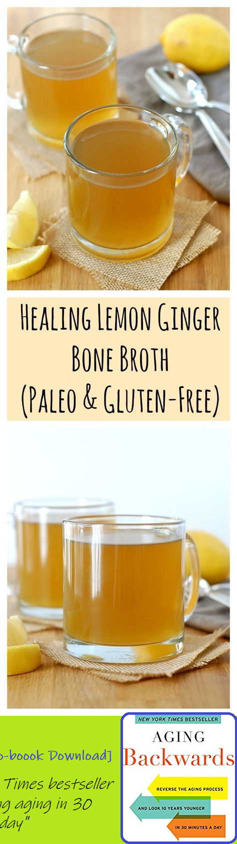 Healing Lemon Ginger Bone Broth (Paleo & Gluten-Free). No matter what ails you, this is the cure! Bone Broth Paleo, Chicken Bone Broth Recipe, Bone Broth Nutrition, Paleo Soup, Best Bone Broth Recipe, Bone Broth Detox, Drinking Bone Broth, Homemade Bone Broth, Soup Broth #bonebrothrecipe Healing Lemon Ginger Bone Broth (Paleo & Gluten-Free). No matter what ails you, this is the cure! Bone Broth Paleo, Chicken Bone Broth Recipe, Bone Broth Nutrition, Paleo Soup, Best Bone Broth Recipe, Bone Broth #bonebrothrecipe