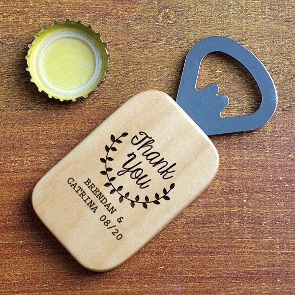 Photo of Thank You Bottle Opener Favor