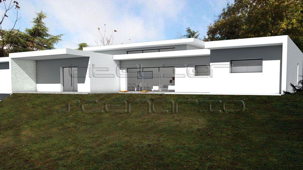 maison à toit terrasse sur terrain en pente Maison sur terrain en - maison sur terrain en pente