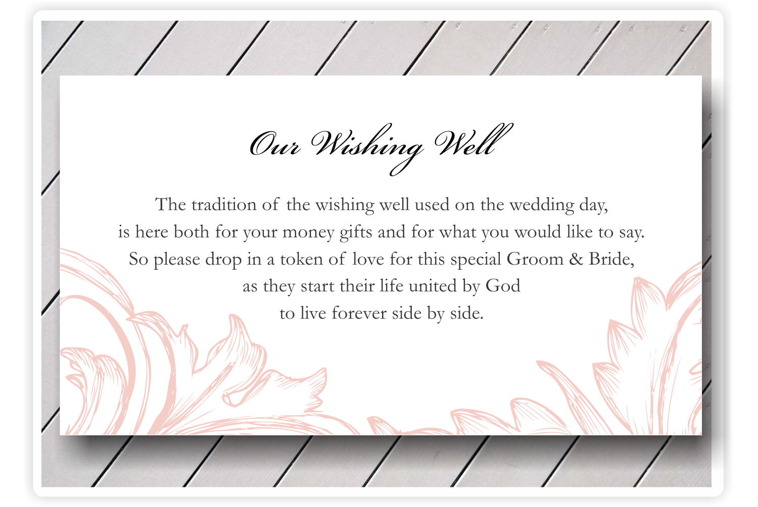 wedding invitation inserts asking for money | ... money. we have ...