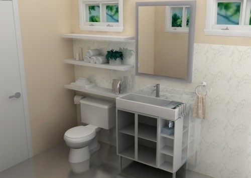 The LILLANGEN sink cabinet from IKEA is a best-selling bathroom unit, ideal for small spaces. (Less than $300!)