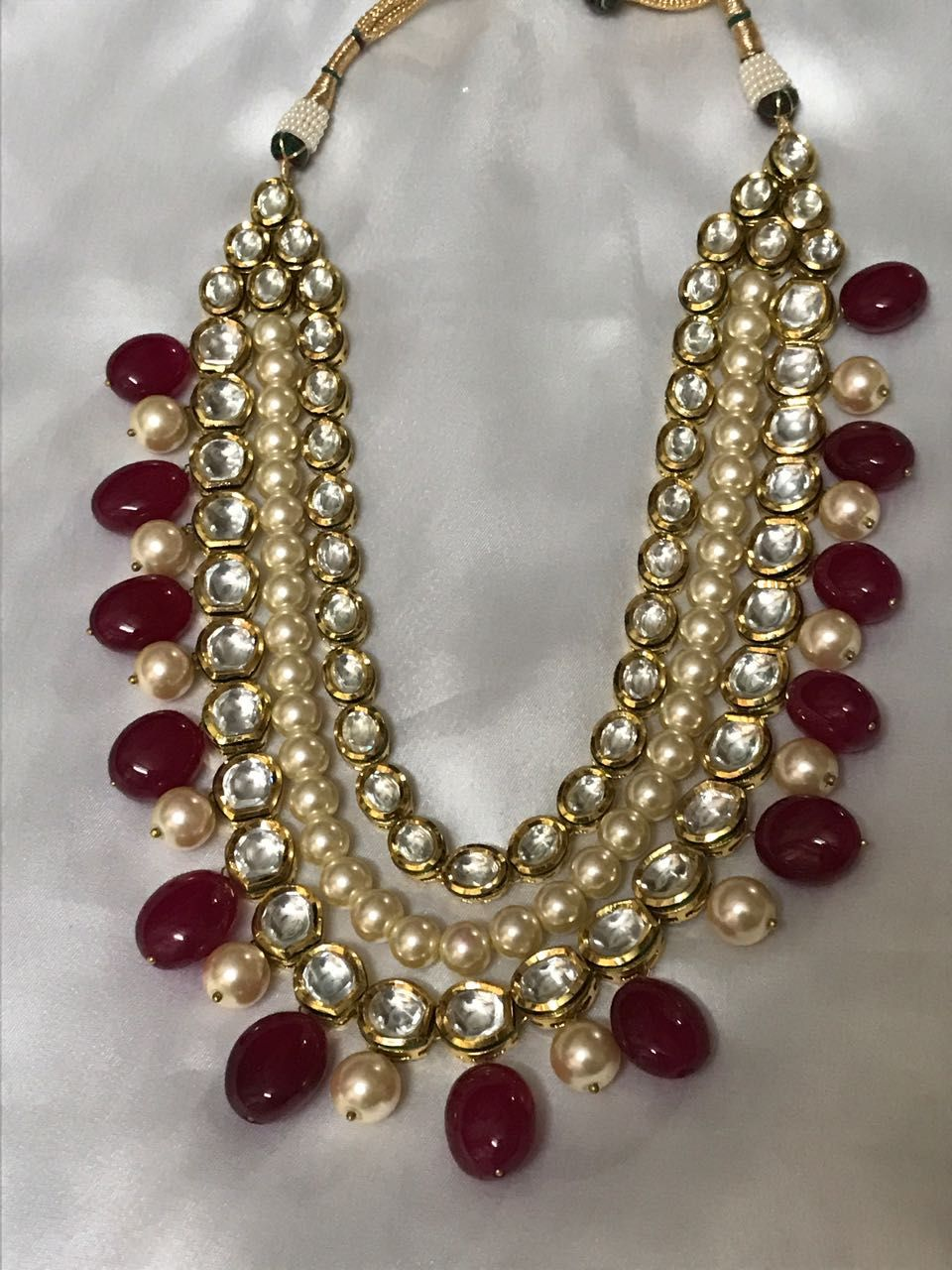 Bridal necklace namaste fashion kundan jewelery pinterest
