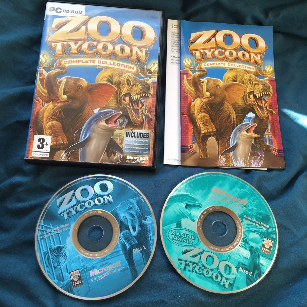 Zoo Tycoon Complete Collection PC CD-ROM | eBay | Games