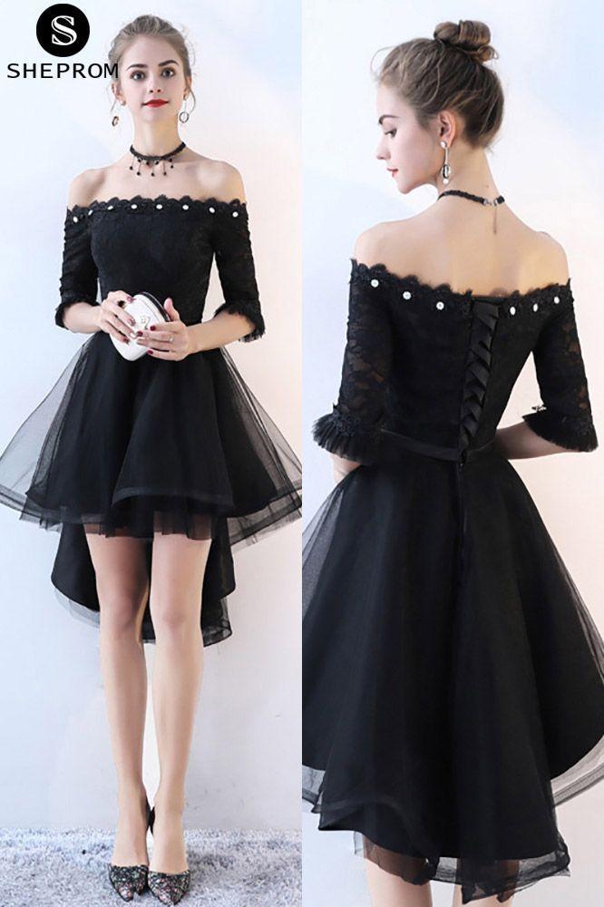 Nur $ 79, Schulterfrei High Low Homecoming Kleid Tüll mit ...