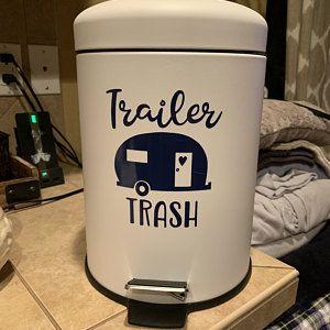 Trailer trash camper decal - retro rv sticker - vinyl trash can decal - RV decal sticker- campsite decor - camper decor - trailer decal