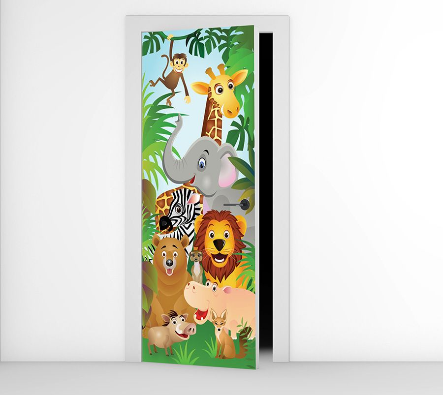Animals Door Mural Animal Wallpaper Murals Door Murals Wall