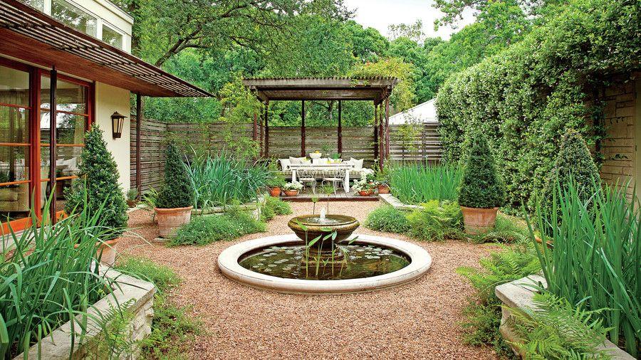 Heat Tolerant Austin Garden Courtyard Gardens Design Courtyard Landscaping Courtyard Garden
