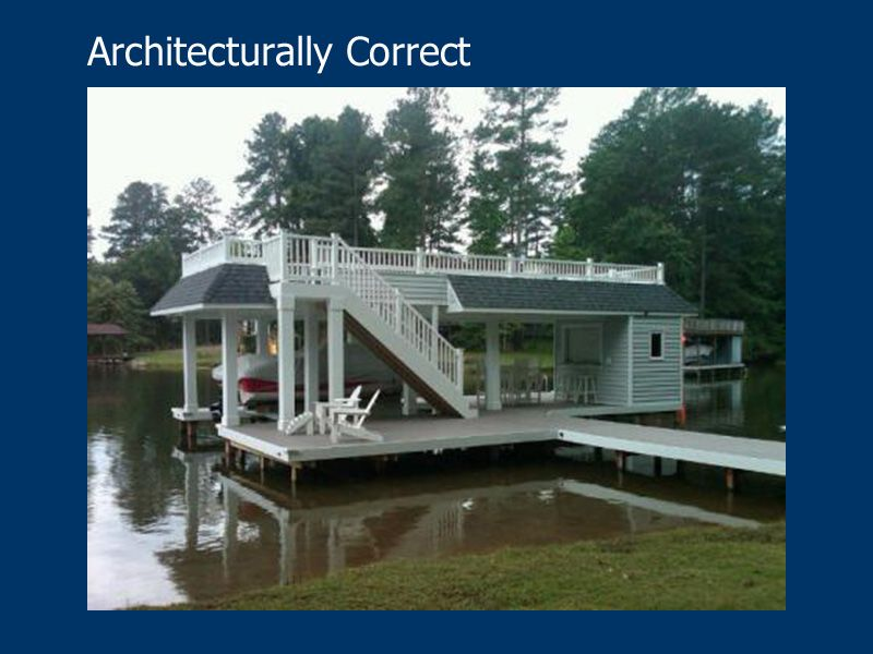 Great Architect Designed Boathouse with roof-top deck and bar ...