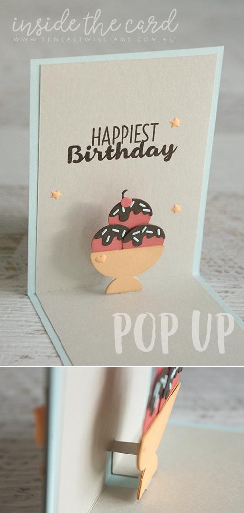 Cool Treats Pop Up Card Birthday Card Pop Up Birthday Cards Diy