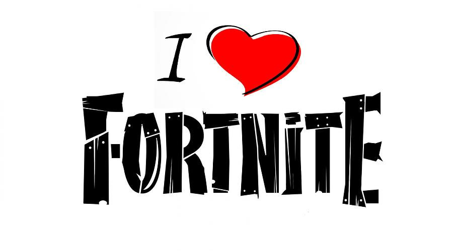 I Love Fortnite I Love Fortnite Drawing By Fortnite Gear Fortnite Art Drawings Beautiful My Love