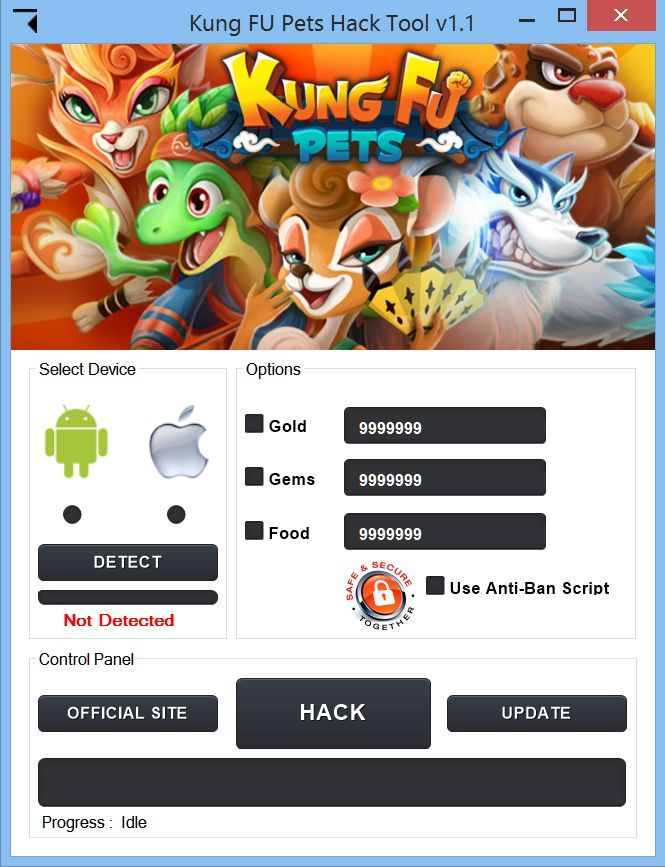 Kung Fu Pets Hack Cheats Tool   Kung Fu Pets Hack is Modhacks.com a new tool, that we all want to present to you. If you ever glimpse at all the other hacks on line, this amazing tool is the most effective. This specific tool was made to be functioning on Android os and iOS …