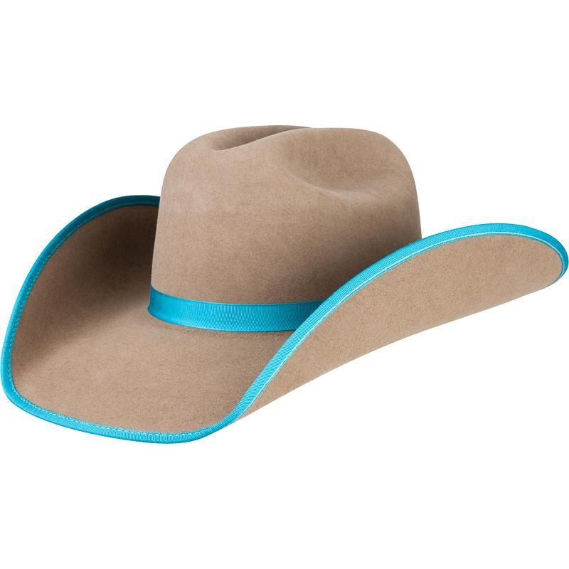 75574fd055f07 Shop Rodeo King 5X Pecan with Turquoise Bound Edge Cowboy Hat ...