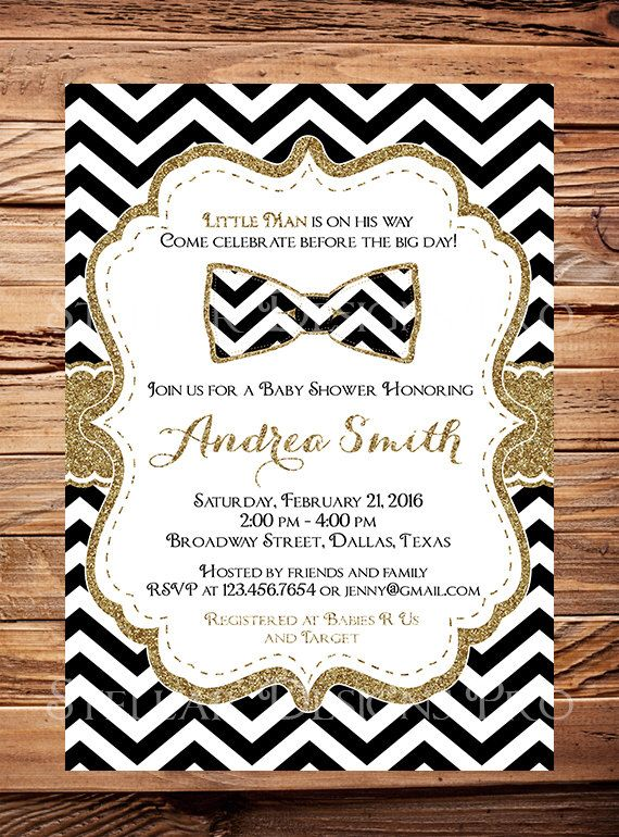 Mustache And Bow Tie Baby Shower Invitations Part - 27: Bowtie Baby Shower Invitation Boy, Little Man, Bowtie Baby Boy Shower,  Black,