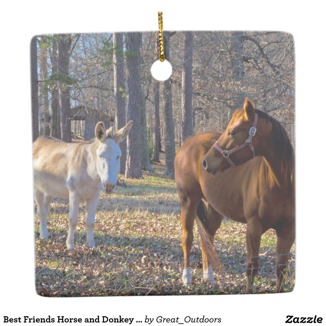 Donkey ornaments - Best Friends Horse And Donkey Hanging Ornaments