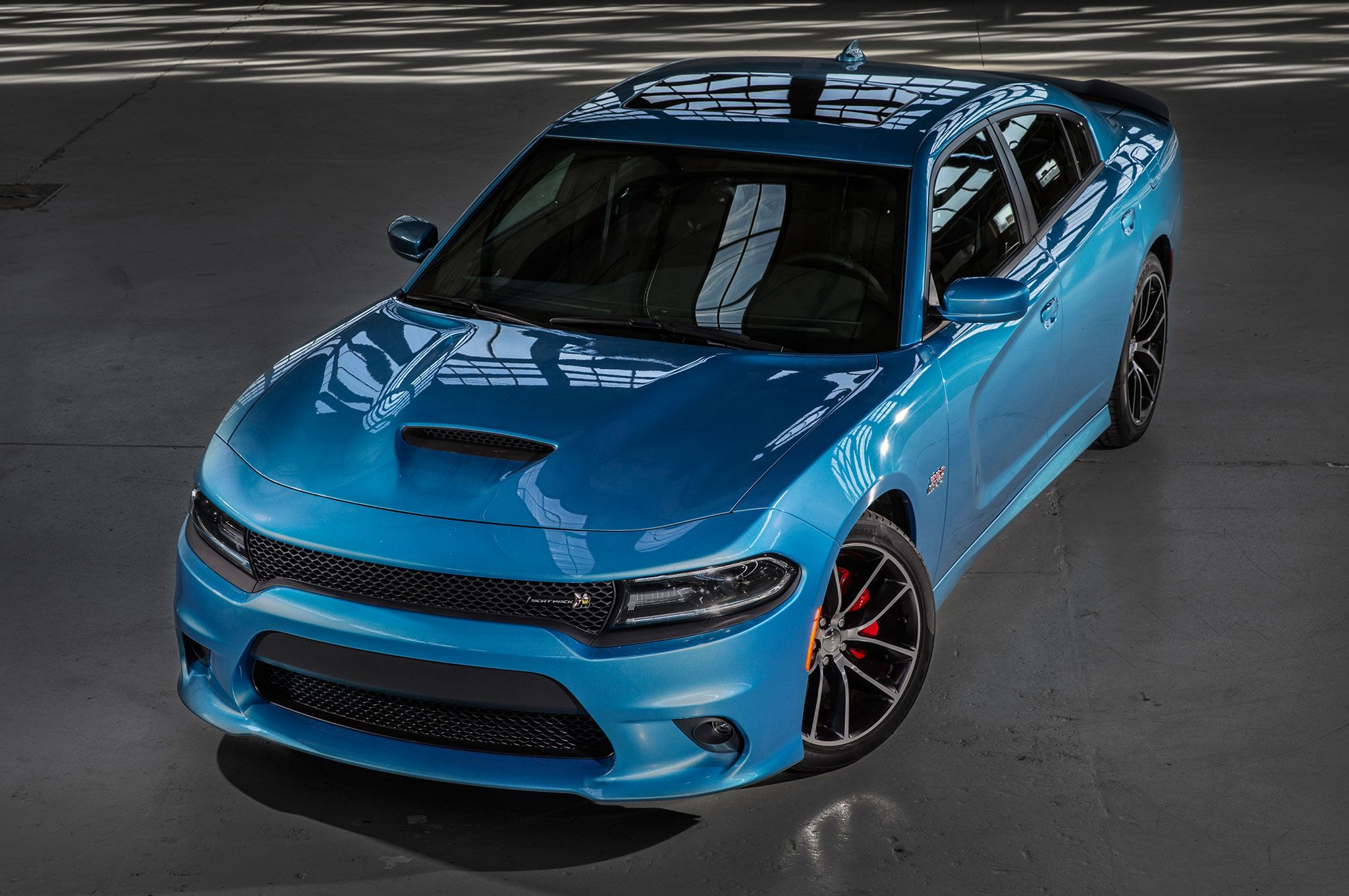 Dodge charger r t scat pack with an hemi engine that delivers best in class 485 horsepower 475 lb ft of torque and in the low range