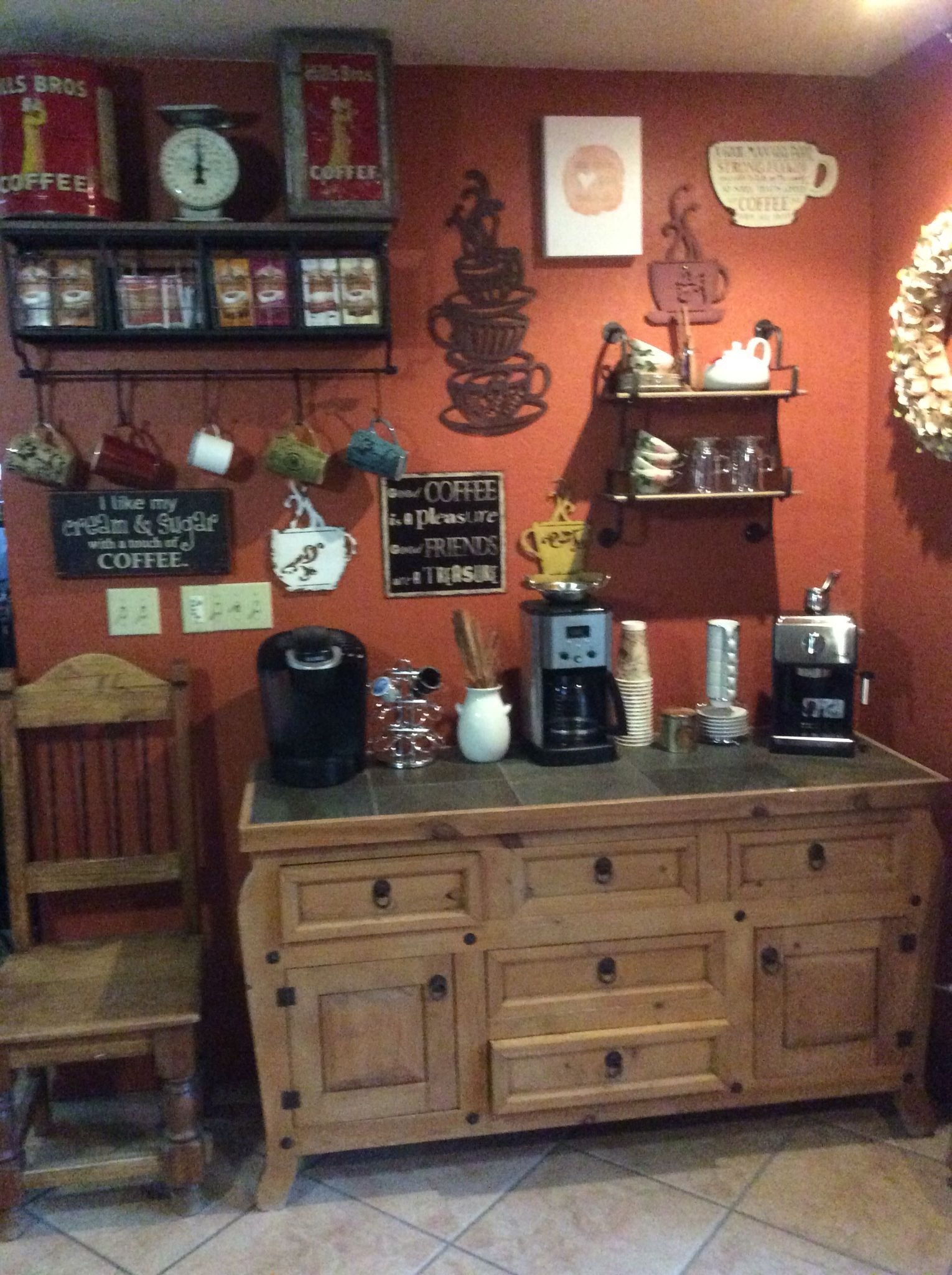 Tiny Craftsman Comes With Espresso Station: We Just Finished Our Coffee Bar. Regular, K- Cups Or