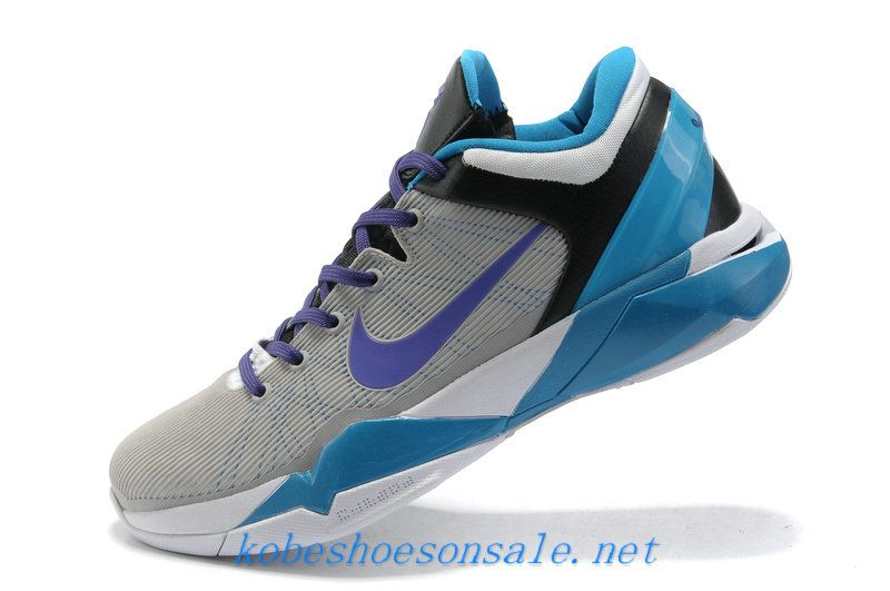 new style cfbd6 8dd74 Nike Zoom Kobe 7 Cool Grey Black Light Purple Dynamic Blue 488244 706