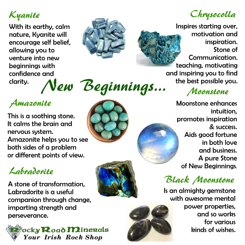 Crystals For New Beginnings Crystal Healing Stones Crystals Crystals And Gemstones