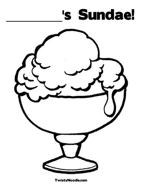 Ice Cream Cup Coloring Page Ice Cream Coloring Pages Summer