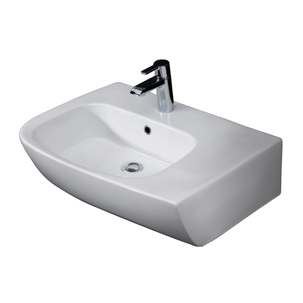 Barclay Products Elena Above Counter Bathroom Sink In White