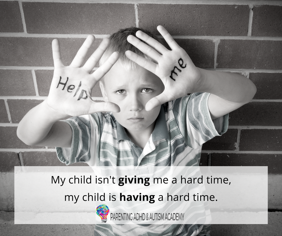 My child isn't giving me a hard time, he's having a hard time. | My  children, Inspirational words, Hard times