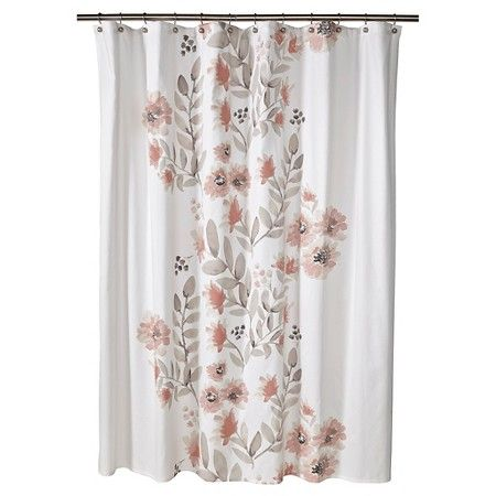 Blooms Flat Weave Shower Curtain (72