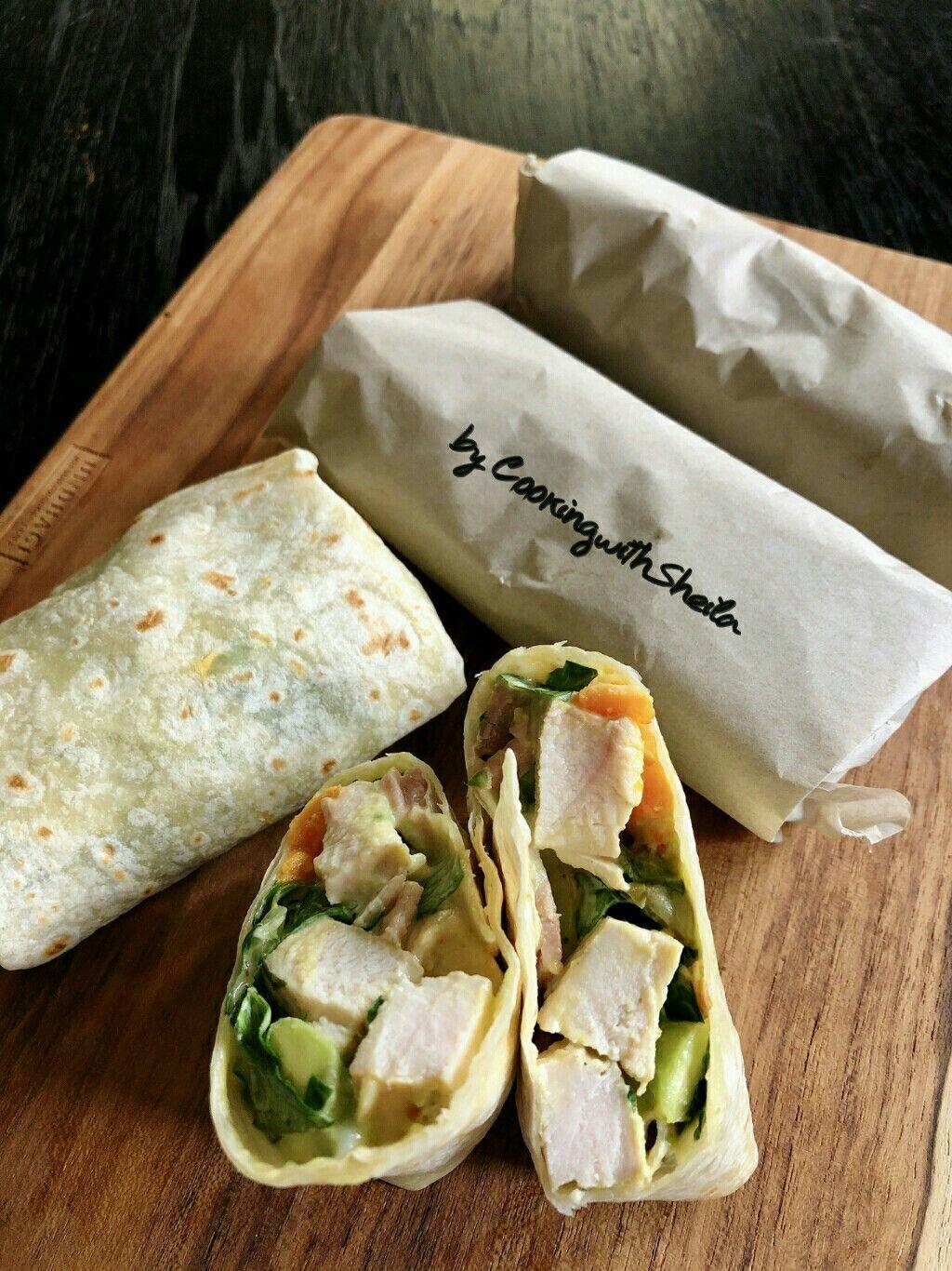 Chicken Caesar Salad Wrap Resep Makanan Makanan Dan Minuman Makanan