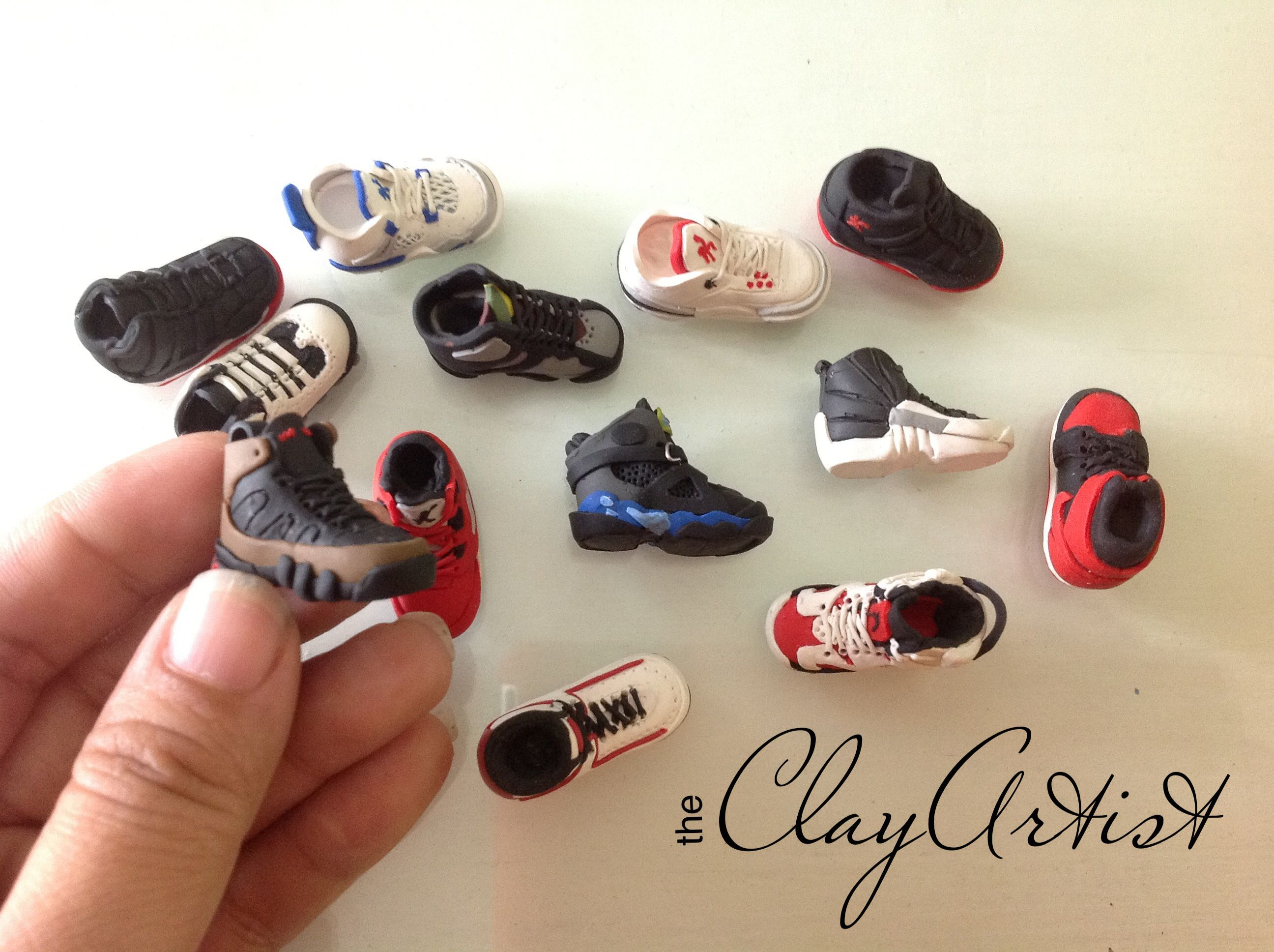 Miniature rubber shoes polymerclay