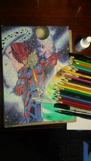 Galactus versus silver surfer