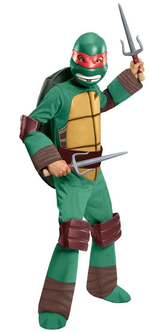 teenage mutant ninja turtles raphael deluxe child costume available on trendyhalloweencom cartoonnetwork - Teenage Mutant Ninja Turtles Halloween Costumes For Kids