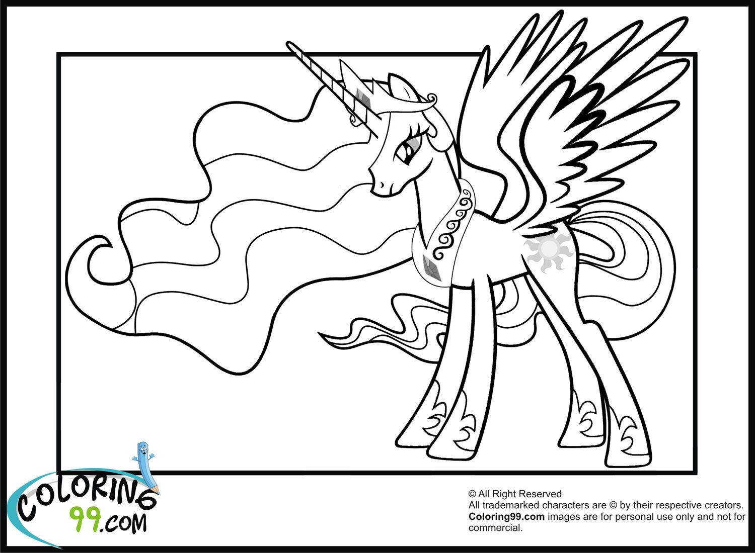 Prinzessin Luna Ausmalbilder : New Princess Celestia Coloring Pages Jpg 1500 1100 Coloring 4