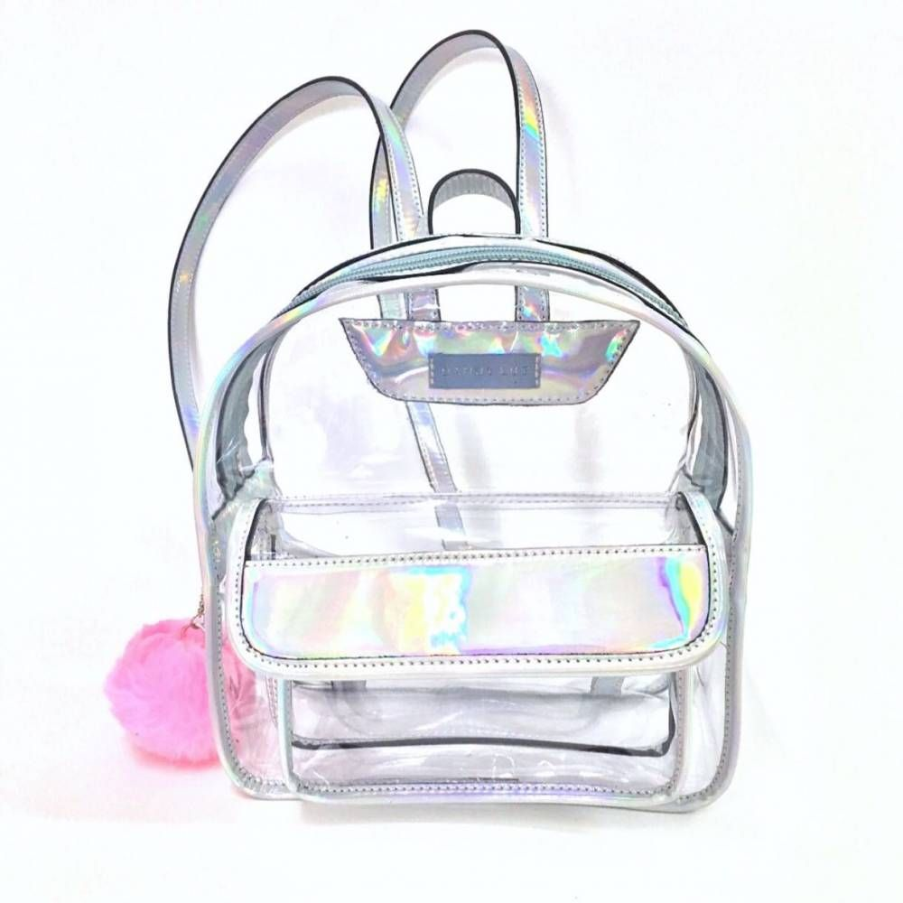 6ab71d640 Mochila Mini Transparente Holográfica- DF8750   Tumblr