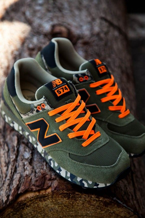 45ec8b26 Orange Laces x Camo Soles New Balance | New Balance | Shoes, New ...