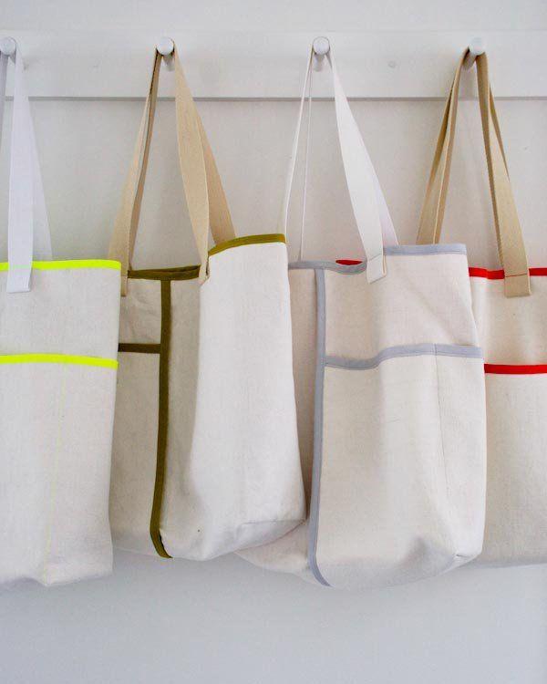 Wrap Pocket Tote | Purl Soho / Bag Sewing Pattern / Sewing Tutorial ...