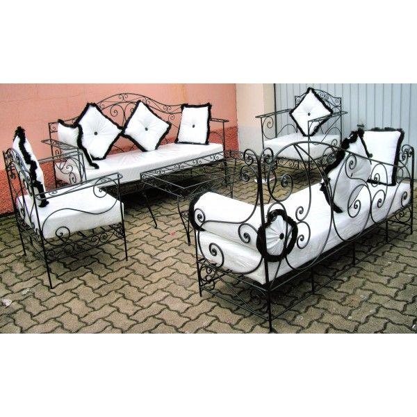 salon-marocain-complet-blanc-en-fer-forge-et-verre.jpg (600×600 ...