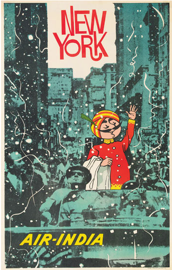 New York Vintage Air India Poster india India poster