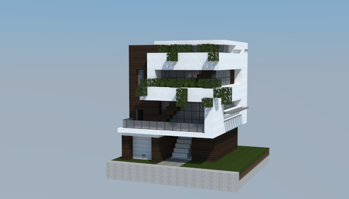 The Walls Modern House Minecraft building ideas download save