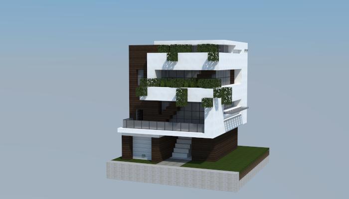 Minecraft house dise o de casa disenos de unas y for Minecraft moderno