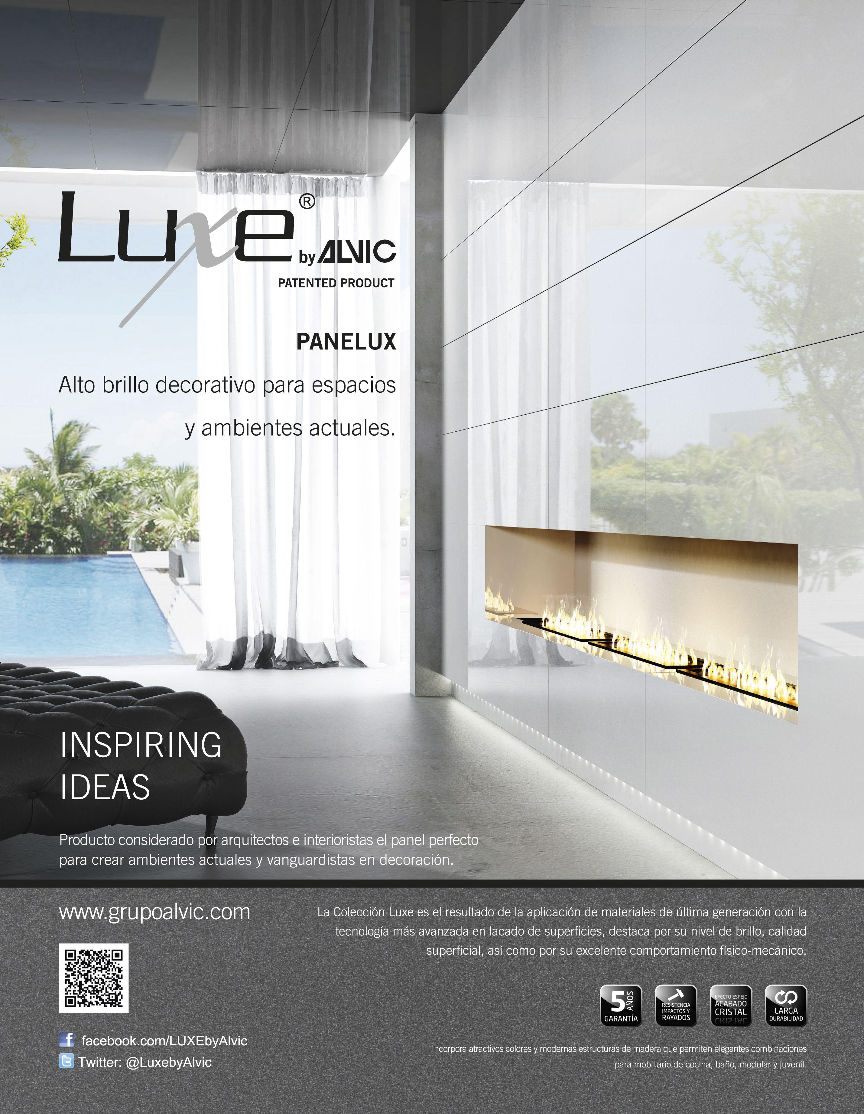 anuncio de luxe by alvic panelux para la revista diseo interior - Revistas De Diseo De Interiores