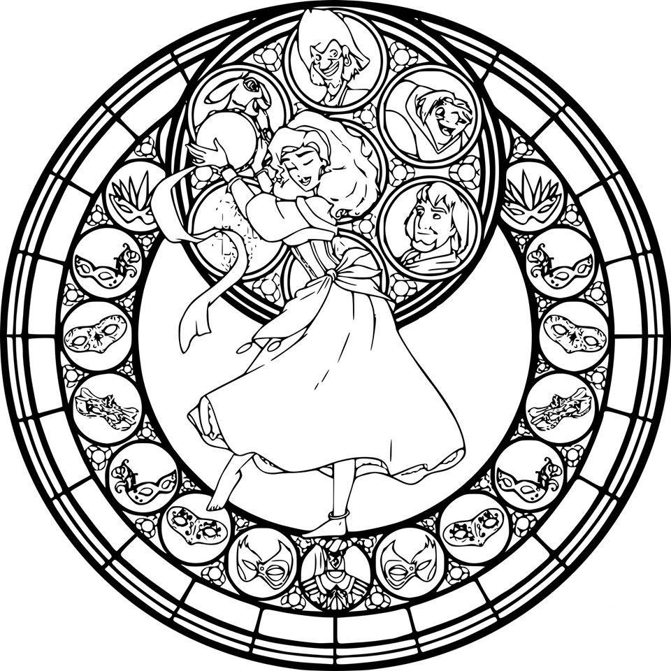 esmeralda  Mandala disney, Coloriage mandala, Mandala à colorier