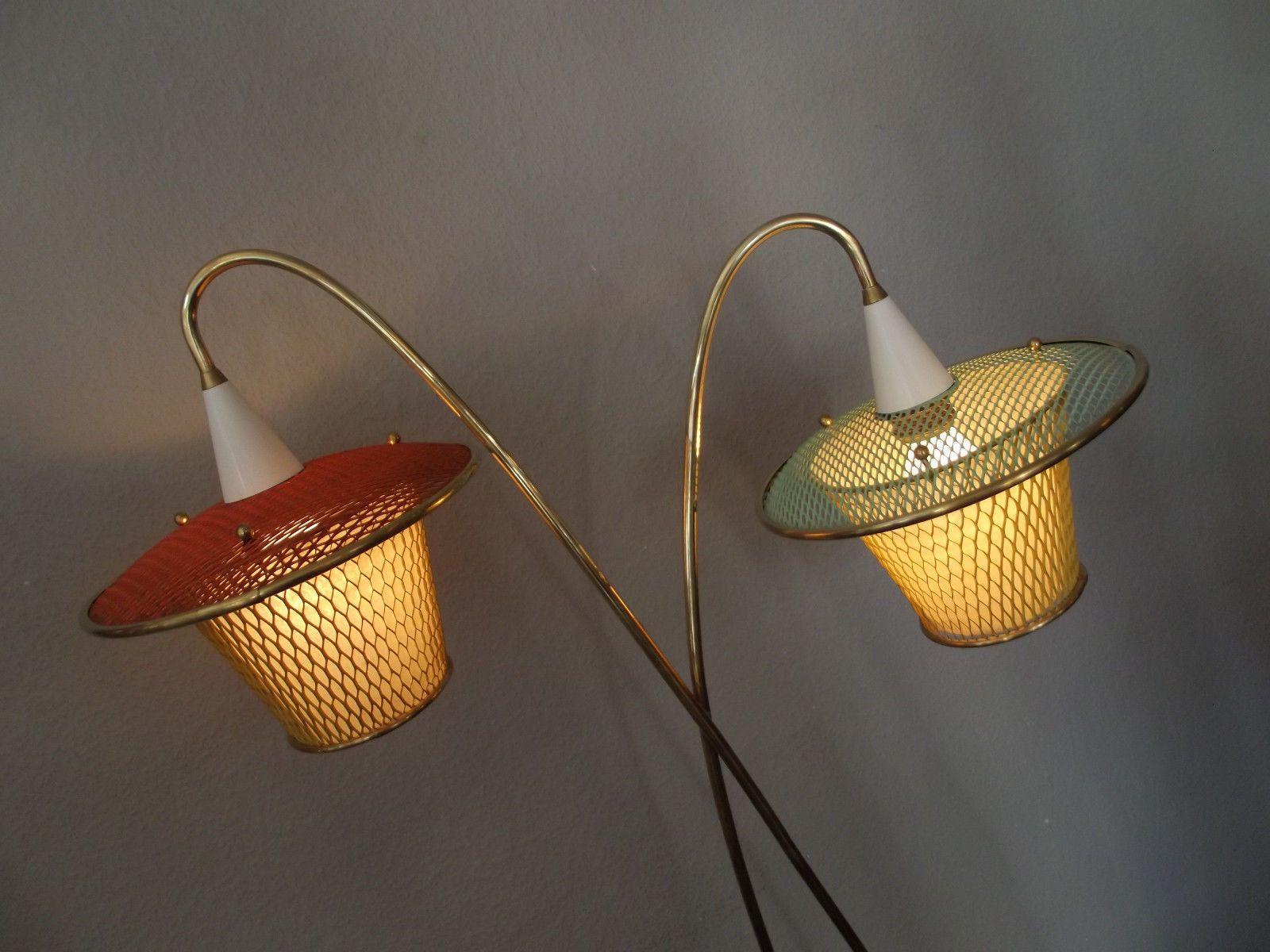 tolle 50s/60s STEHLAMPE 50er/60er Sputnik, nierentisch tütenlampe in ...