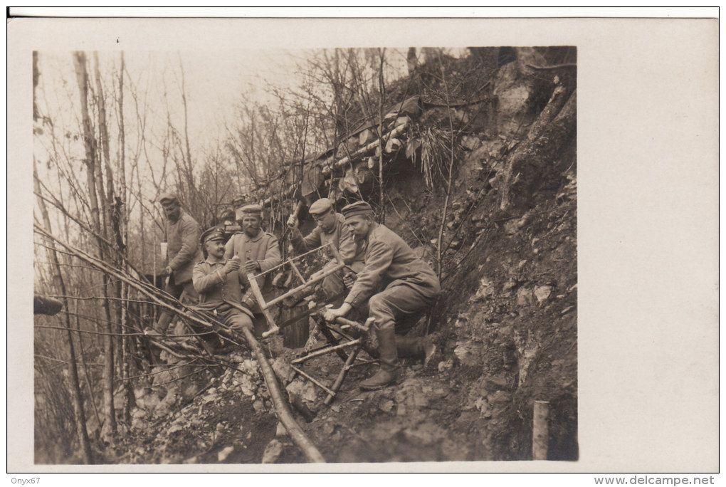 Carte Postale Photo Militaire Allemand -Confection Abris-Sciage-Travail du bois- ARGONNEN-ARGONNE (Meuse-Ardennes) - Delcampe.net