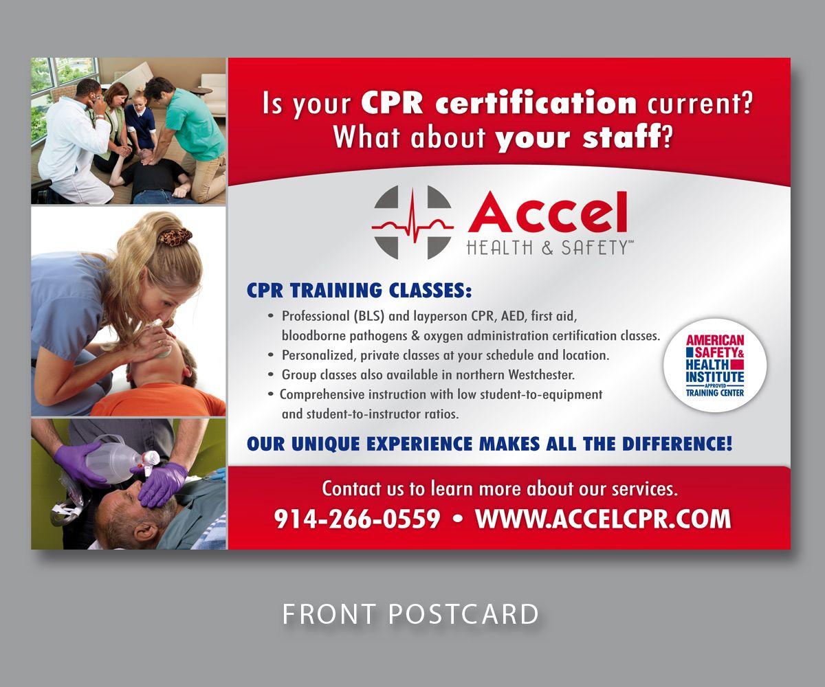 cpr training postcards   CPR training postcard   Postcard Design Contest   Brief #550316