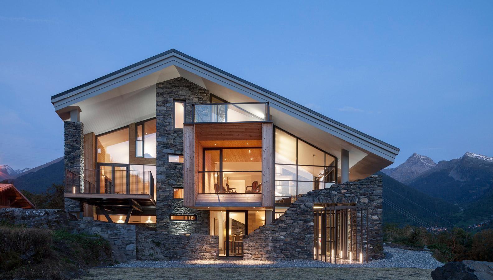 Modern Mountain Home Wallpapers For Phones Arquitetura Arquitetura E Decoracao Decoracao