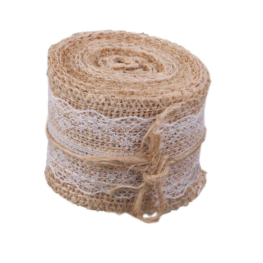 Tinksky Natural Hessian Jute Lace Craft Ribbon Jute Burlap Ribbon Roll 2m Read More Reviews Of The Item Burlap Crafts Rustic Diy Crafts Vintage Lace Crafts