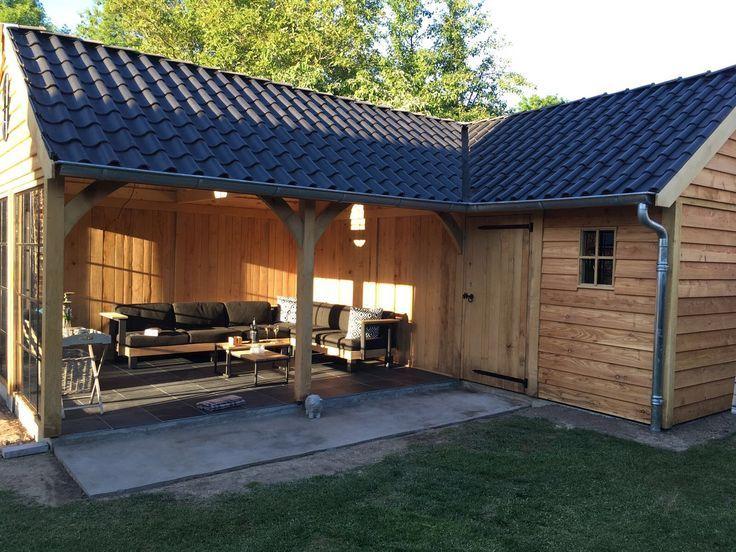 Maison de jardin en chêne avec salon de jardin - Bricolage Bois