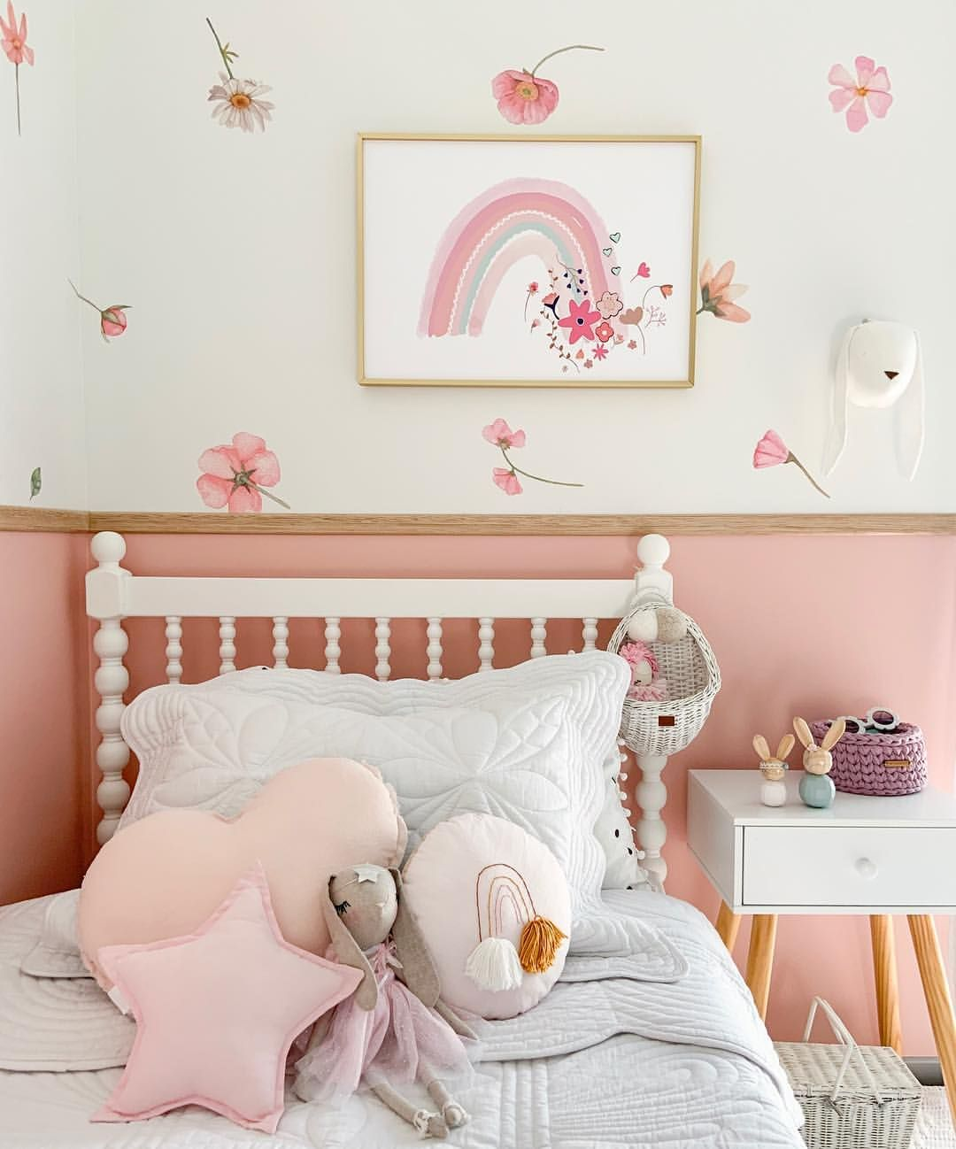 Girls Bedroom These Sailah Lane Flower Wall Decals Are Removable And Reusable Rainbow Print By Sailah Scandinavian Kids Rooms Rainbow Promise Childrens Decor