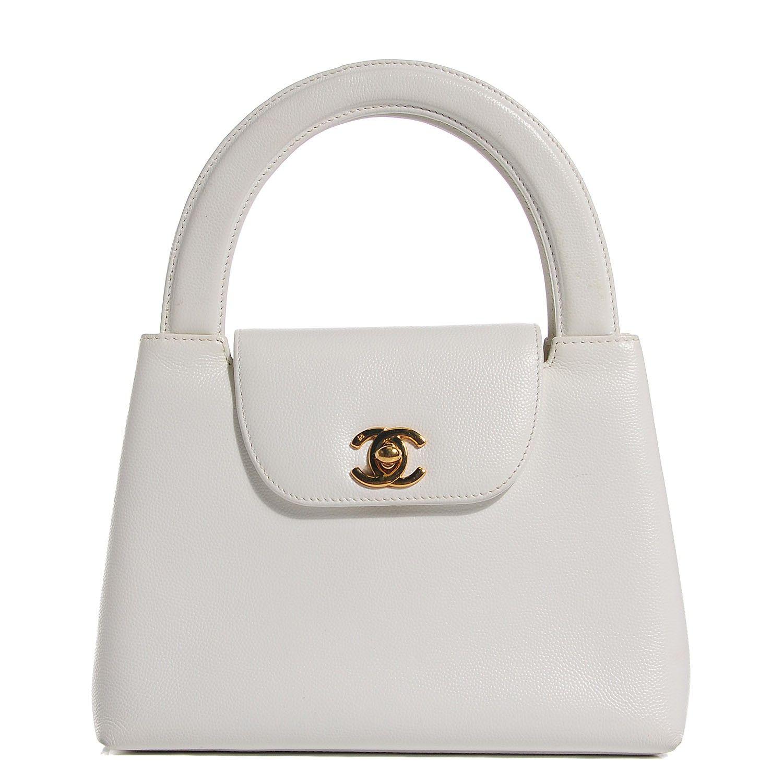 Chanel Caviar Small Kelly Flap Bag White White Bag Kelly Bag Bags