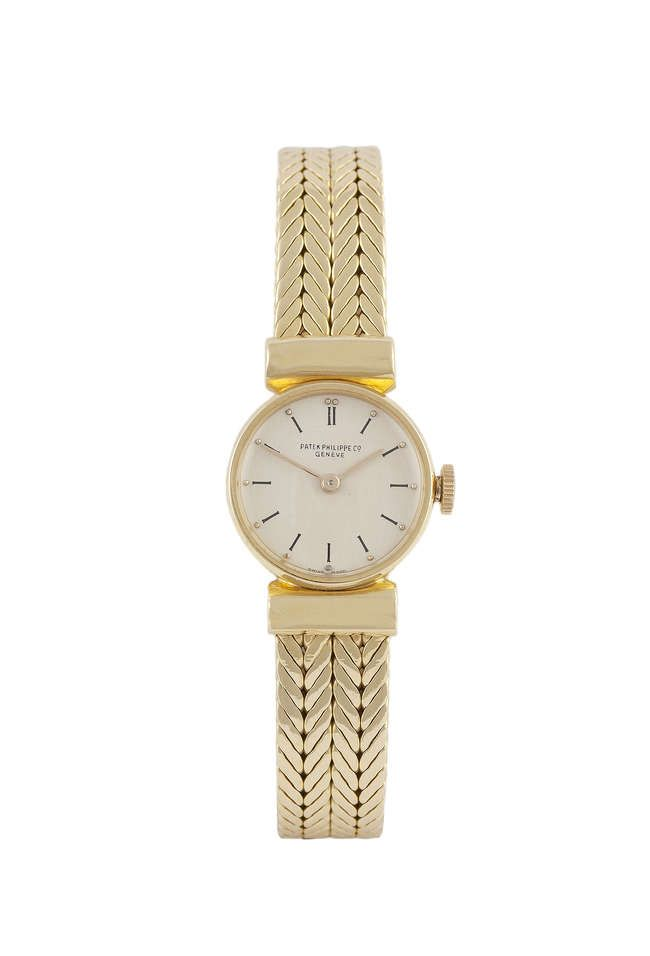 A Lady's 18 carat gold wristwatch by Patek Philippe Previously on sale at Adam's. www.adams.ie