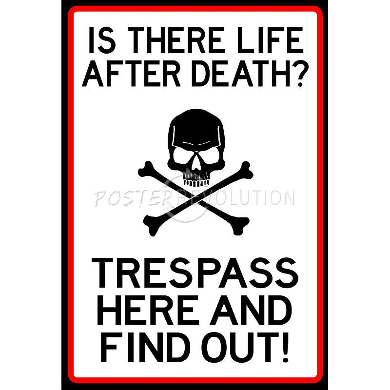 No Trespassing Do Not Enter Sign Poster | Chasing Pirates ...